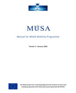 Manual for MUSA Mobility Programme