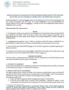 MUSA agreement template